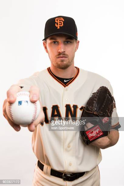Pitcher Chris Sratton poses for a photo during the San Francisco Giants photo day on Tuesday Feb 20 2018 at Scottsdale Stadium in Scottsdale Ariz