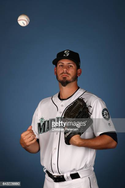 Pitcher Christian Bergman of the Seattle Mariners poses for a portrait during photo day at Peoria Stadium on February 20 2017 in Peoria Arizona