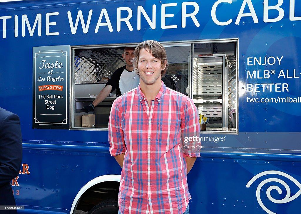 Pitcher Clayton Kershaw of the Los Angeles Dodgers attends Time Warner Cable MLB All Star Week - Food Trucks, Wifi & Players on July 15, 2013 in New York City.