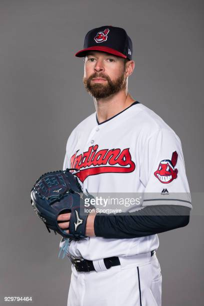 Pitcher Corey Kluber poses for a photo during the Cleveland Indians photo day on Wednesday Feb 21 2018 at Goodyear Ballpark in Goodyear Ariz
