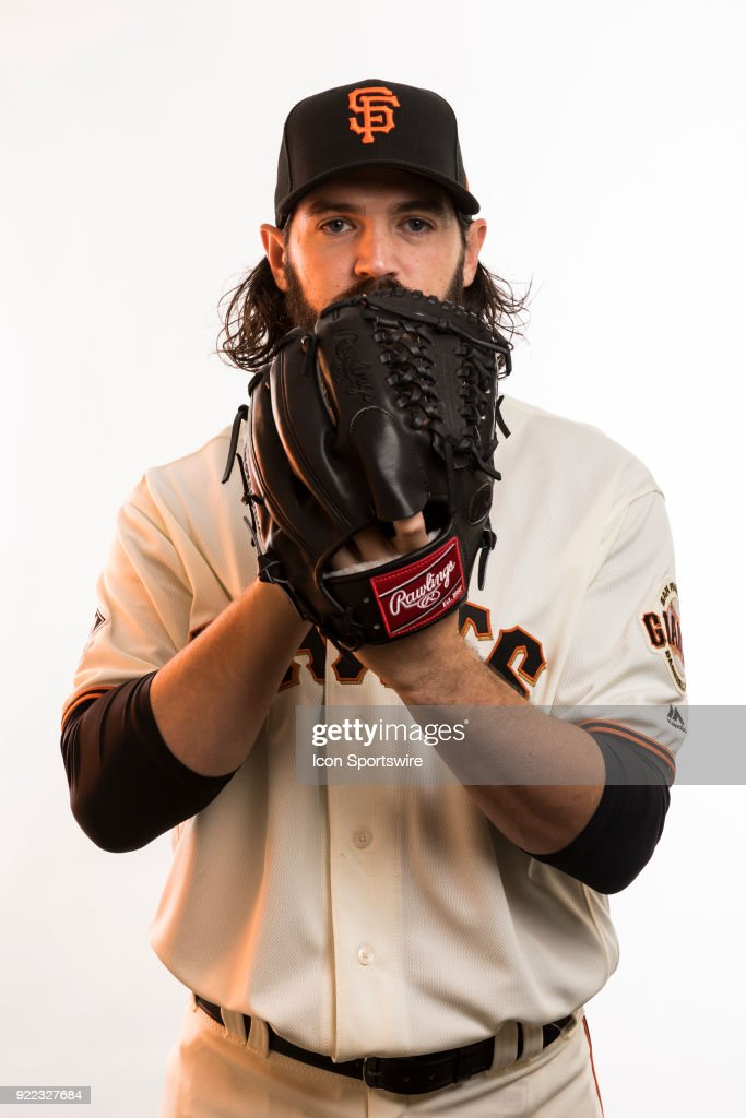 Pitcher Cory Gearing (26) poses for a photo during the San Francisco Giants photo day on Tuesday, Feb. 20, 2018 at Scottsdale Stadium in Scottsdale, Ariz.