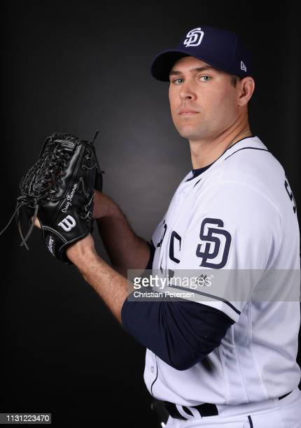 Pitcher Craig Stammen of the San Diego Padres poses for a portrait during photo day at Peoria Stadium on February 21, 2019 in Peoria, Arizona.