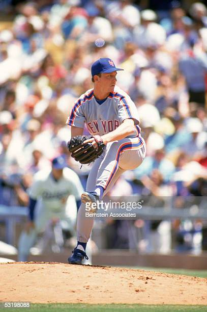 Pitcher David Cone of the New York Mets winds back to pitch during a May1991 season game