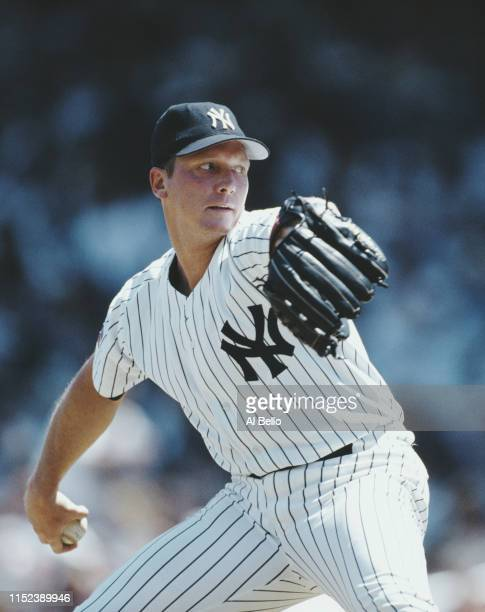 Pitcher David Cone of the New York Yankess during the Major League Baseball American League East game against the Cleveland Indians on 29 June 1997...