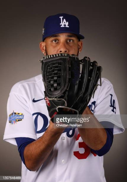 Pitcher David Price of the Los Angeles Dodgers poses for a portrait during MLB media day on February 20, 2020 in Glendale, Arizona.