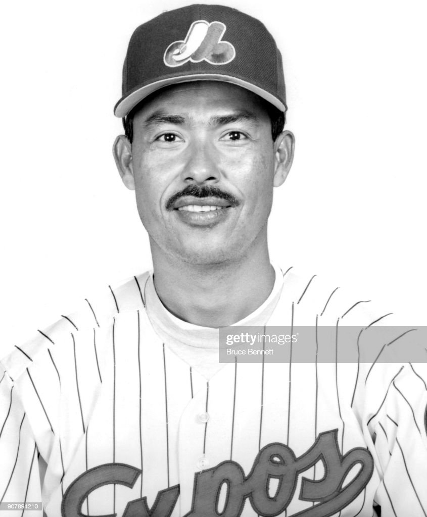 Pitcher Dennis Martinez #32 of the Montreal Expos poses for a portrait during Spring Training circa March, 1993 in West Palm Beach, Florida.