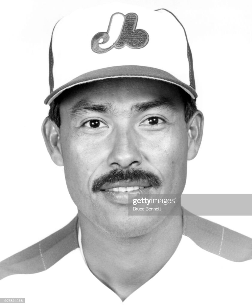 Pitcher Dennis Martinez #32 of the Montreal Expos poses for a portrait during Spring Training circa March, 1990 in West Palm Beach, Florida.