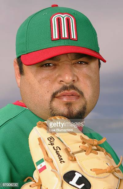 Pitcher Dennys Reyes of Mexico poses for a portrait during Photo Day for the World Baseball Classic on March 5 2006 in Tucson Arizona