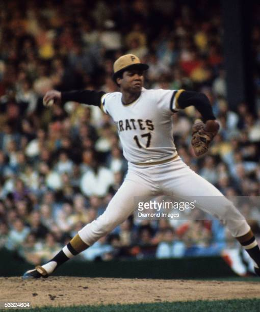 Pitcher Dock Ellis for the Pittsburgh Pirates, delivers a pitch during the MLB All-Star Game on July 13, 1971 at Tiger Stadium in Detroit, Michigan....