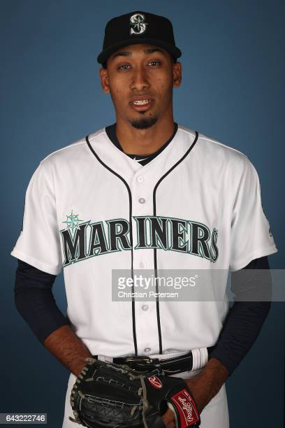 Pitcher Edwin Diaz of the Seattle Mariners poses for a portrait during photo day at Peoria Stadium on February 20 2017 in Peoria Arizona