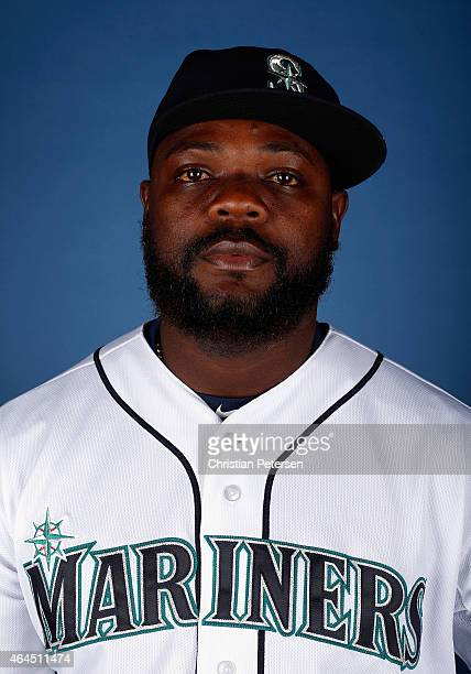 Pitcher Fernando Rodney of the Seattle Mariners poses for a portrait during spring training photo day at Peoria Stadium on February 26 2015 in Peoria...