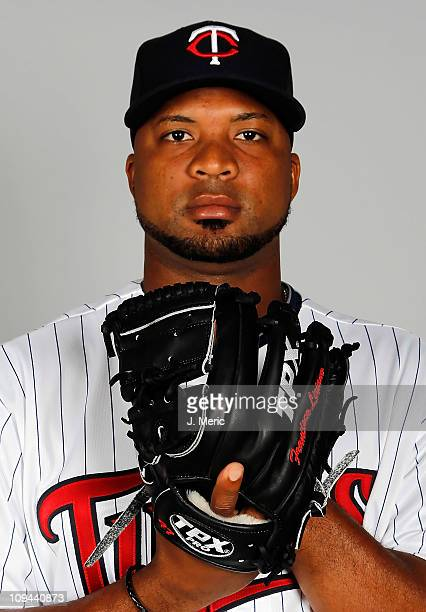 Pitcher Francisco Liriano of the Minnesota Twins poses for a photo during photo day at Hammond Stadium on February 25 2011 in Fort Myers Florida