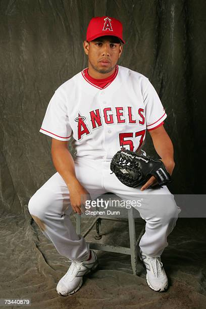 Pitcher Francisco Rodriguez of the Los Angeles Angels of Anaheim poses during Photo Day on February 22 2007 at Tempe Diablo Stadium in Tempe Arizona