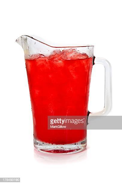 Pitcher full of refreshing fruit punch