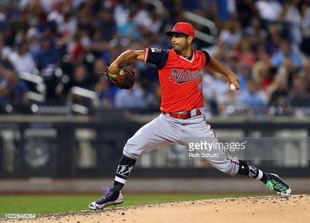 Pitcher Gio Gonzalez of the Washington Nationals delivers a pitch against the New York Mets during the fourth inning of a game at Citi Field on...