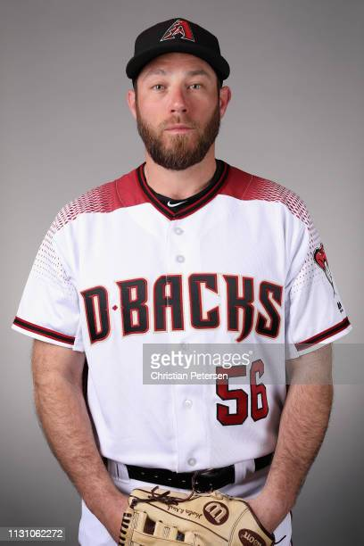 Pitcher Greg Holland of the Arizona Diamondbacks poses for a portrait during photo day at Salt River Fields at Talking Stick on February 20, 2019 in...