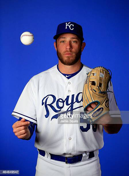 Pitcher Greg Holland poses during Kansas City Royals Photo Day on February 27, 2015 in Surprise, Arizona.