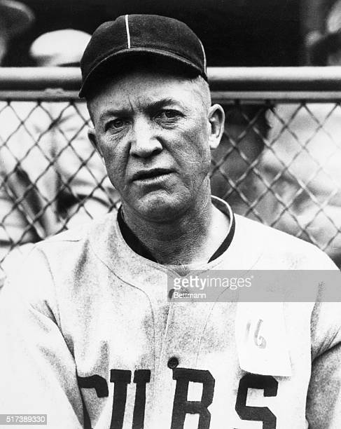 Pitcher Grover Cleveland Alexander in 1926 just before he left the Chicago Cubs to join the St Louis Cardinals