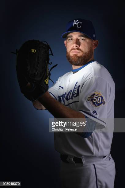 Pitcher Ian Kennedy of the Kansas City Royals poses for a portrait during photo day at Surprise Stadium on February 22 2018 in Surprise Arizona