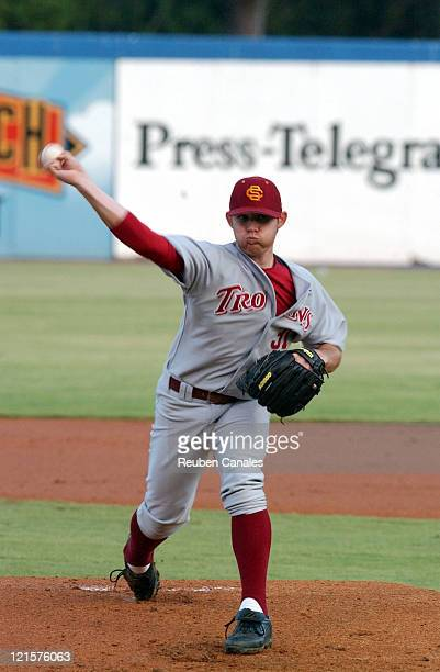 Pitcher Ian Kennedy of the Univeristy of Southern California in the NCAA Long Beach Regional against the Long Beach State 49ers Dirtbags in a 6 to 4...
