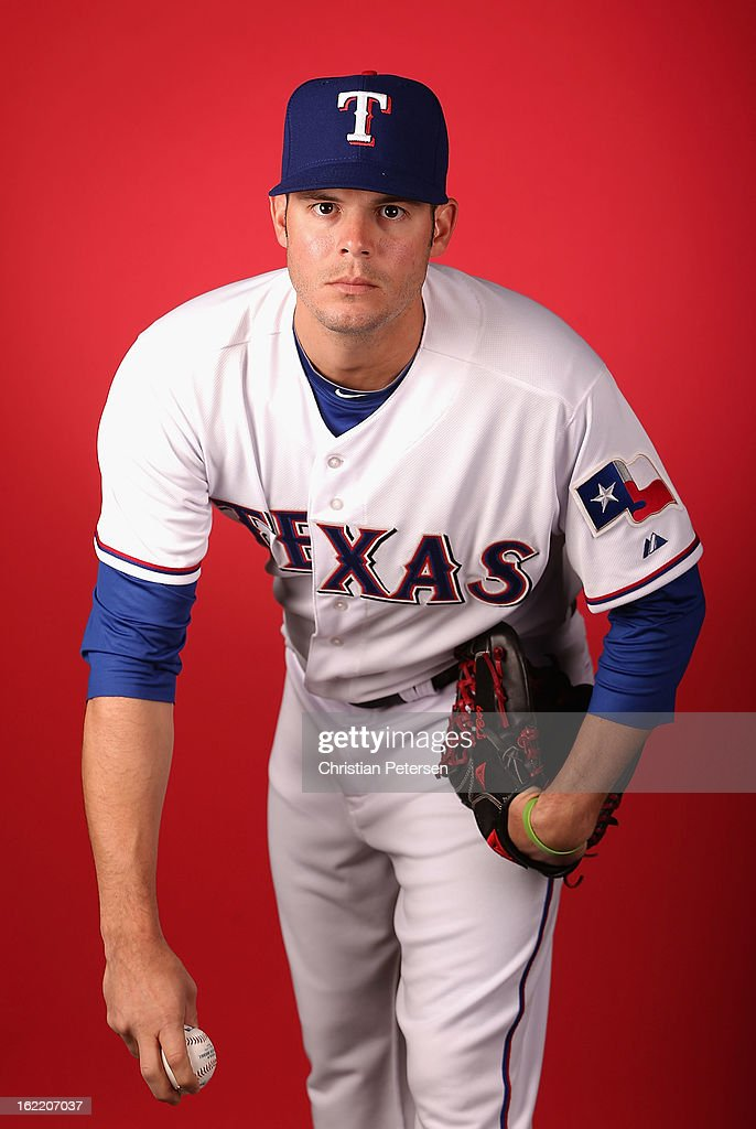 Pitcher Jake Brigham #49 of the Texas Rangers poses for a portrait during spring training photo day at Surprise Stadium on February 20, 2013 in Surprise, Arizona.