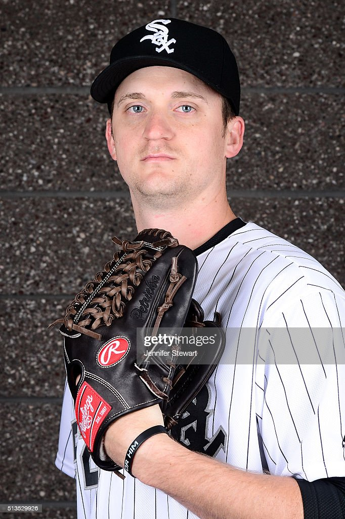 Pitcher Jake Petricka #52 of the Chicago White Sox poses for a portrait during spring training photo day at Camelback Ranch on February 27, 2016 in Glendale, Arizona.