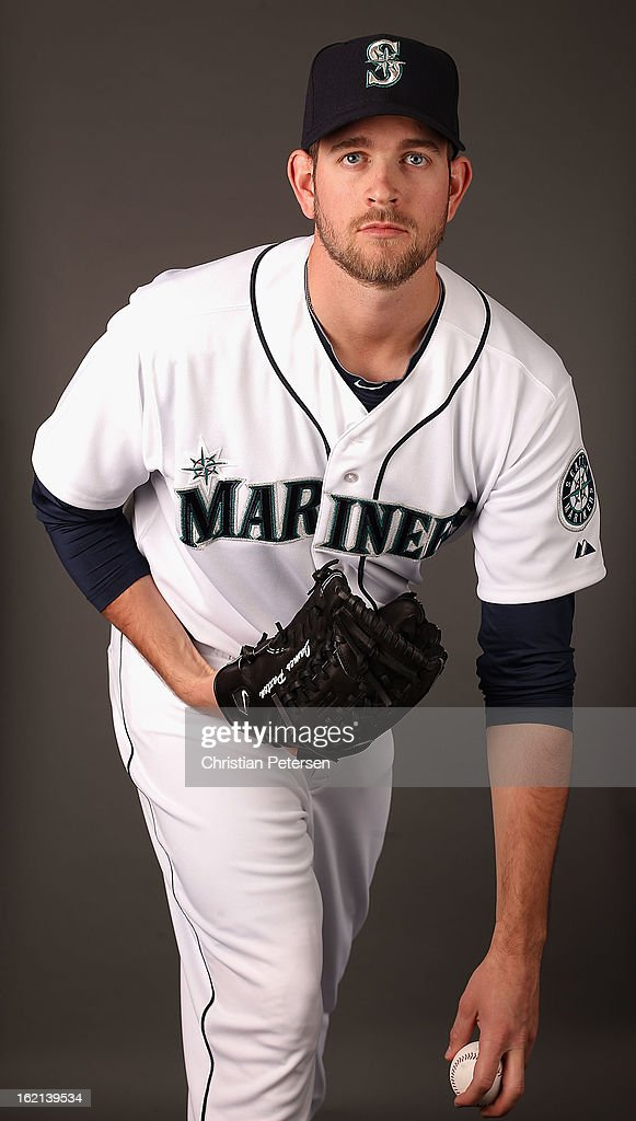 Pitcher James Paxton #65 of the Seattle Mariners poses for a portrait during spring training photo day at Peoria Stadium on February 19, 2013 in Peoria, Arizona.