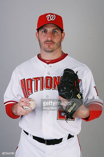 Pitcher Jason Marquis of the Washington Nationals poses during photo day at Space Coast Stadium on February 28 2010 in Viera Florida