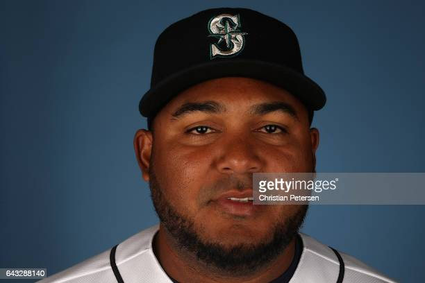 Pitcher Jean Machi of the Seattle Mariners poses for a portrait during photo day at Peoria Stadium on February 20 2017 in Peoria Arizona