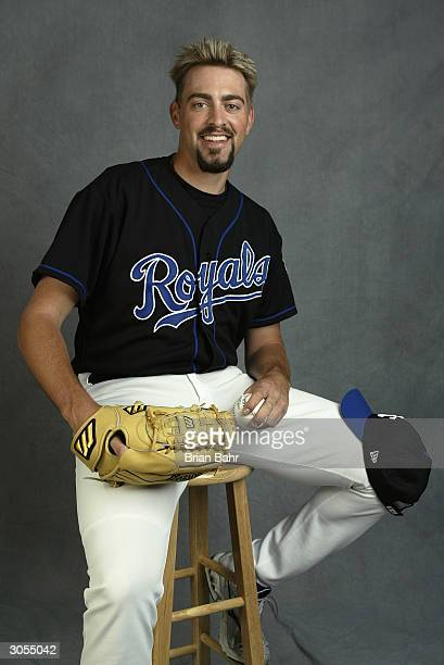 Pitcher Jeremy Affeldt of the Kansas City Royals poses for a portrait during photo day on February 27 2004 at Surprise Stadium in Surprise Arizona