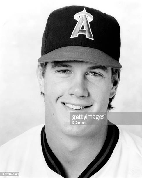 Pitcher Jim Abbott of the California Angels poses for a portrait circa 1991 at Anaheim Stadium in Anaheim California