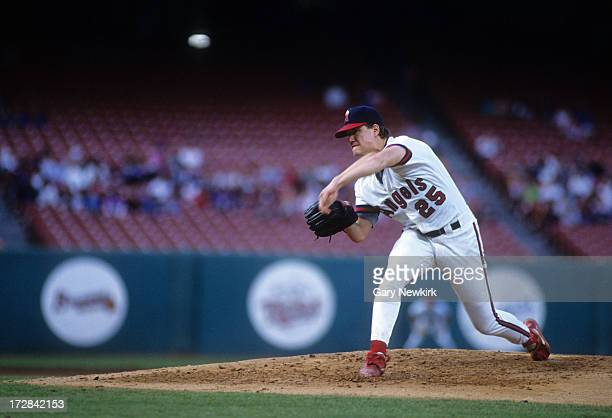 Pitcher Jim Abbott of the California Angels throws a pitch during an MLB game against the Milwaukee Brewers on September 8 1991 at Anaheim Stadium in...