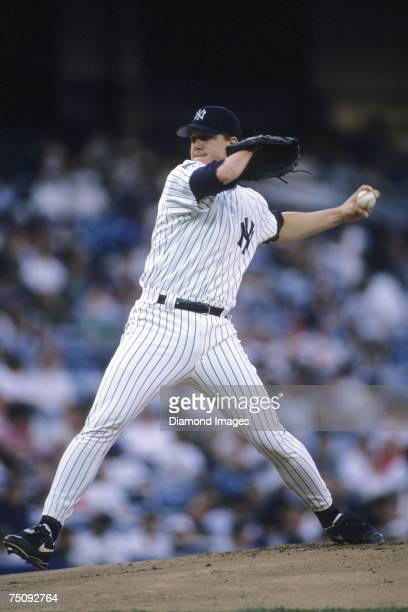 Pitcher Jim Abbott of the New York Yankees throws a pitch during a game in June 1994 at Yankee Stadium in New York New York