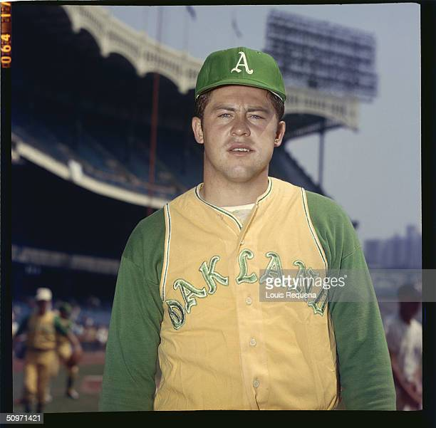 Pitcher Jim ' Catfish' Hunter of the Oakland Athletics poses for a portrait at Yankee Stadium in Bronx New York in 1968