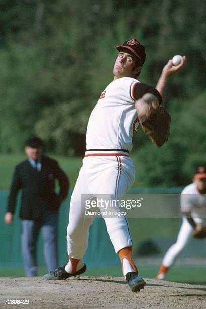 Pitcher Jim Palmer of the Baltimore Orioles throws a pitch during a game in 1974 at Memorial Stadium in Baltimore Maryland