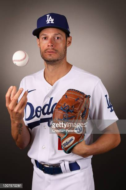 Pitcher Joe Kelly of the Los Angeles Dodgers poses for a portrait during MLB media day on February 20, 2020 in Glendale, Arizona.