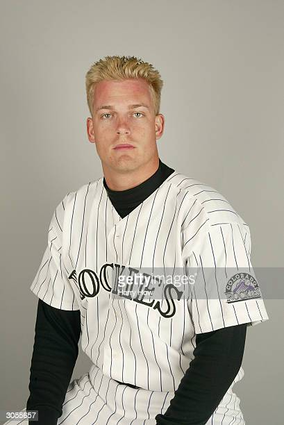 Pitcher Joe Kennedy of the Colorado Rockies during the 2004 MLB Spring Training Photo Day at Hi Corbett Field on February 28 2004 in Tucson Arizona