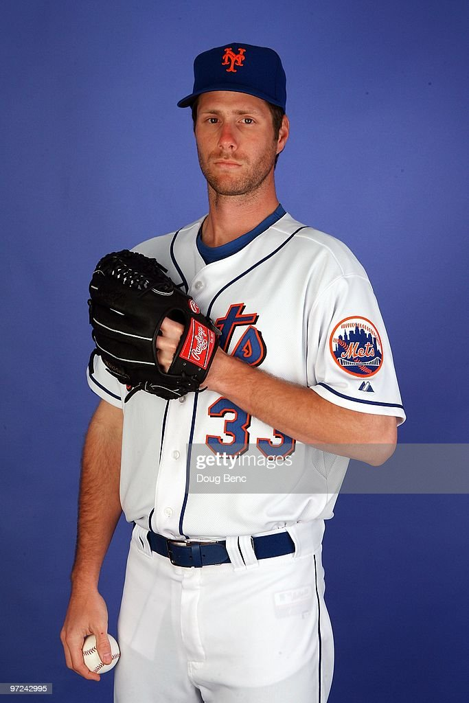 Pitcher John Maine #33 of the New York Mets poses during photo day at Tradition Field on February 27, 2010 in Port St. Lucie, Florida.