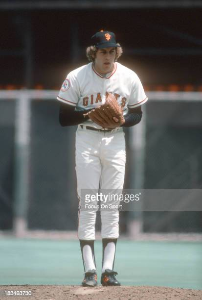 Pitcher John Montefusco of the San Francisco Giants pitches during a Major League Baseball game circa 1976 at Candlestick Park in San Francisco...