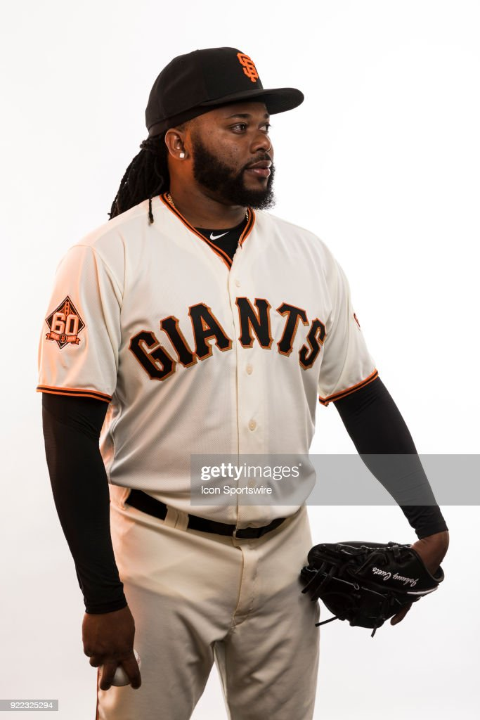 Pitcher Johnny Cute (47) poses for a photo during the San Francisco Giants photo day on Tuesday, Feb. 20, 2018 at Scottsdale Stadium in Scottsdale, Ariz.