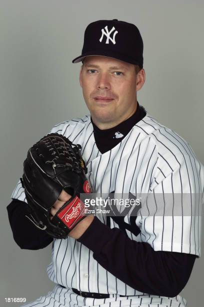 Pitcher Jon Lieber of the New York Yankees poses for a portrait during the Yankees' spring training Media Day on February 21 2003 at Legends Field in...