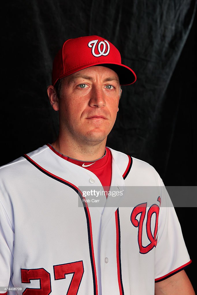 Pitcher Jordan Zimmermann #27 of the Washington Nationals poses for a portrait at Space Coast Stadium during photo day on February 23, 2014 in Viera, Florida.