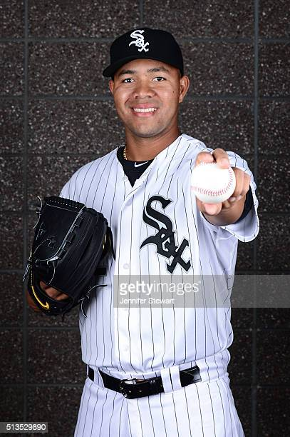 Pitcher Jose Quintana of the Chicago White Sox poses for a portrait during spring training photo day at Camelback Ranch on February 27 2016 in...