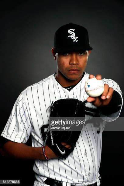 Pitcher Jose Quintana of the Chicago White Sox poses on Chicago White Sox Photo Day during Spring Taining on February 23 2017 in Glendale Arizona