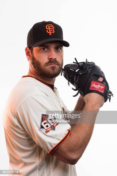 Pitcher Josh Osich poses for a photo during the San Francisco Giants photo day on Tuesday Feb 20 2018 at Scottsdale Stadium in Scottsdale Ariz