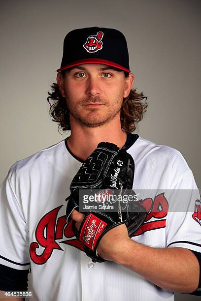Pitcher Josh Tomlin poses during Cleveland Indians Photo Day on February 26 2015 in Goodyear Arizona