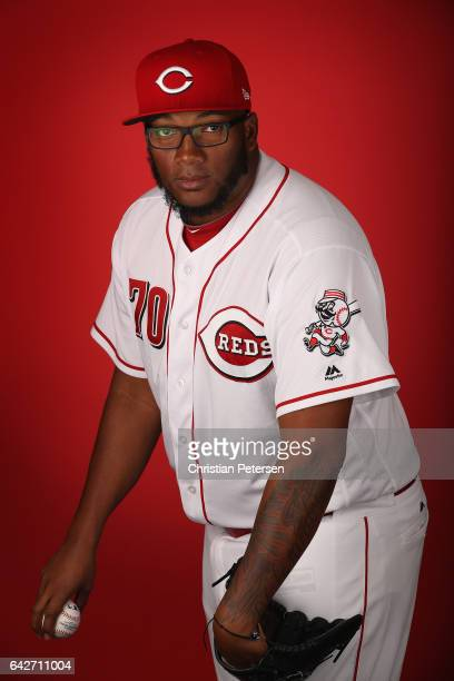 Pitcher Jumbo Diaz of the Cincinnati Reds poses for a portait during a MLB photo day at Goodyear Ballpark on February 18 2017 in Goodyear Arizona