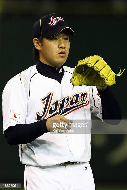 Pitcher Kazuhisa Makita of Japan in action during the World Baseball Classic Second Round Pool 1 game between Japan and the Netherlands at Tokyo Dome...