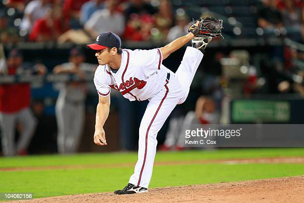 Pitcher Kenshin Kawakami of the Atlanta Braves against the St Louis Cardinals at Turner Field on September 9 2010 in Atlanta Georgia