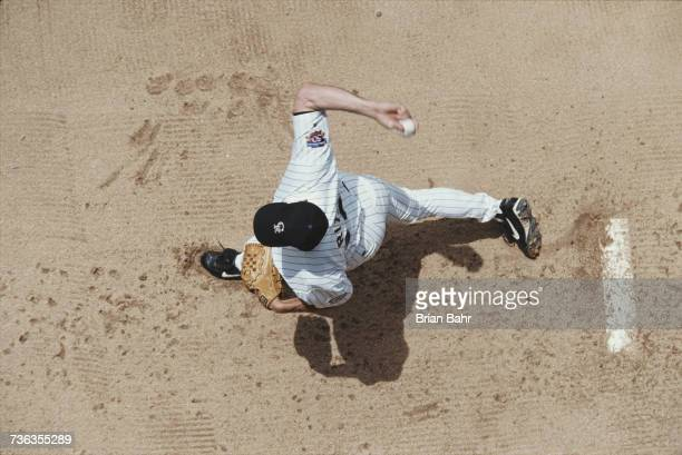 Pitcher Kevin Ritz of the Colorado Rockies throws a pitch against the San Diego Padres during their Major League Baseball National League game on 5...